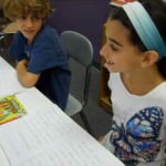 3rd graders learning how to do a literature circle