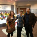 Tricia Baehr, Birke Baehr and Ben Woelk arrive at Harley