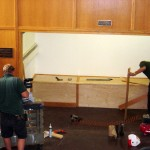 Schifty and MIke Buck finishing off the nook in Beckerman.