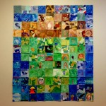 "Collaborative ""Acorn"" art in Beckerman, created by 9th grade art students, with 3rd grade and Primary B student help"