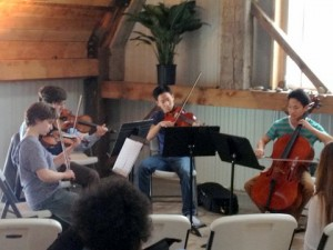Beautiful string quartet music in the CMEE