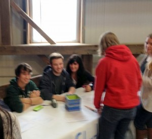Student Council table promoting upcoming events