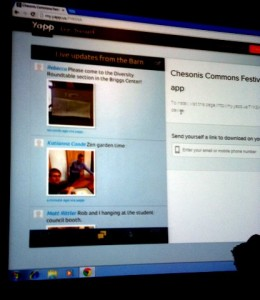 Live feed for the Commons Festival Yapp