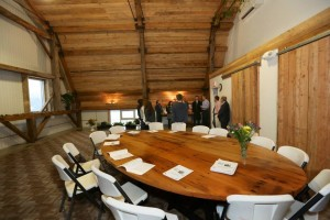 The Harkness table and beatiful vaulted ceilings in the CMEE