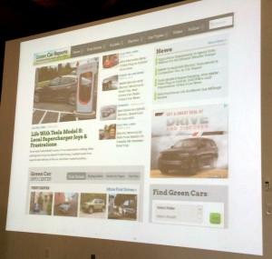 Screen shot of www.greencarreports.com